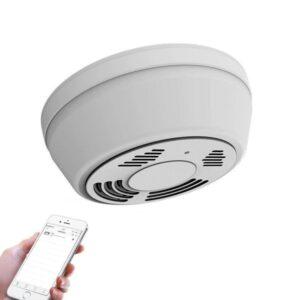 Rauchmelder- HD Wlan Kamera, Bewegungserkennung, Night Vision - Batterie und Netzbetrieb möglich