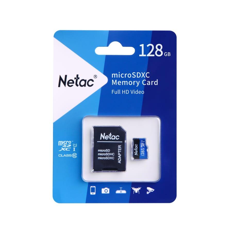 Netac P500 Standard SD(TF) Speicherkarte + Adapter, 32   64GB